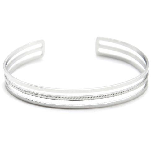 Bracelet-Jonc-Ajoure-avec-Triple-Rangs-Acier-Argente-et-Points