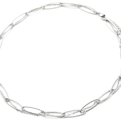 Collier-Chaine-Double-avec-Maillons-et-Fine-Chaine-Acier-Argente