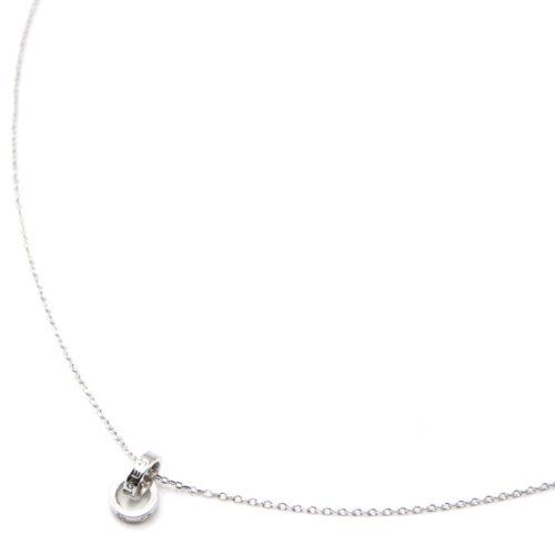 Collier-Fine-Chaine-Argent-925-Pendentif-Double-Anneaux-avec-Strass-et-Motif-Love