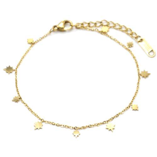 Bracelet-Fine-Chaine-avec-Mini-Pampilles-Soleils-Acier-Dore