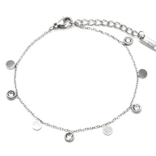 Bracelet-Fine-Chaine-avec-Pampilles-Rondes-Acier-Argente-et-Pierres