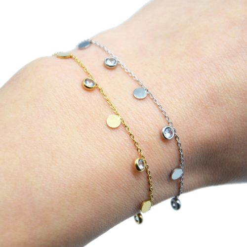 Bracelet-Fine-Chaine-avec-Pampilles-Rondes-Acier-et-Pierres