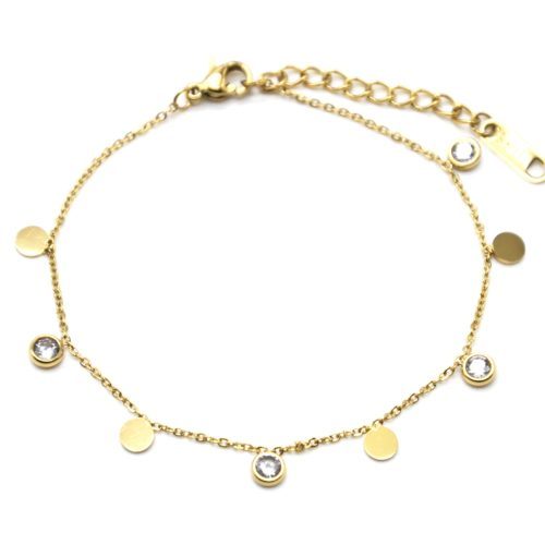 Bracelet-Fine-Chaine-avec-Pampilles-Rondes-Acier-Dore-et-Pierres