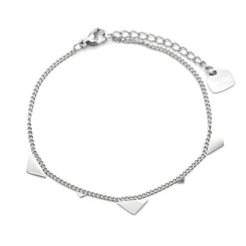 Bracelet-Fine-Chaine-avec-Pampilles-Triangles-Assortis-Acier-Argente