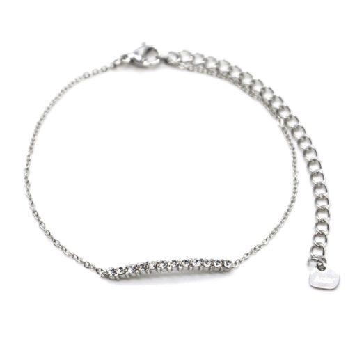 Bracelet-Fine-Chaine-Acier-Argente-avec-Barre-Multi-Strass