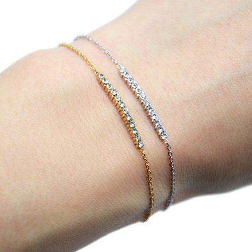 Bracelet-Fine-Chaine-Acier-avec-Barre-Multi-Strass