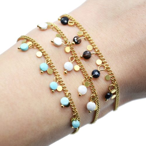 Bracelet-Chaine-Maillons-Fins-avec-Pampilles-Acier-Dore-et-Pierres-Resine