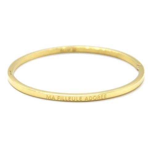 Bracelet-Jonc-Fin-Acier-Dore-avec-Message-Ma-Filleule-Adoree