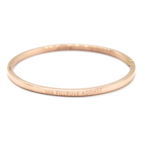 Bracelet-Jonc-Fin-Acier-Or-Rose-avec-Message-Ma-Filleule-Adoree