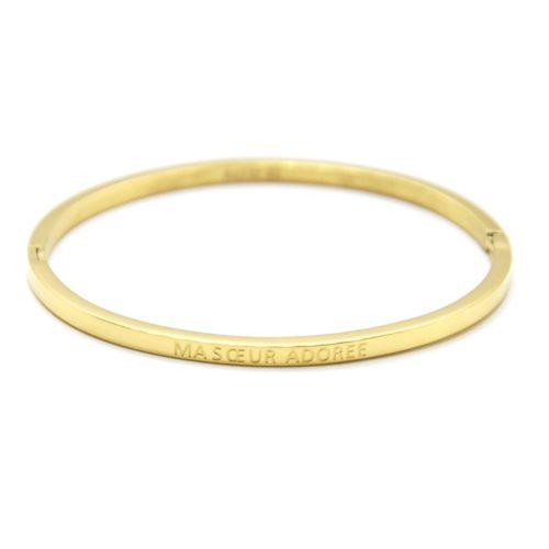 Bracelet-Jonc-Fin-Acier-Dore-avec-Message-Ma-Soeur-Adoree