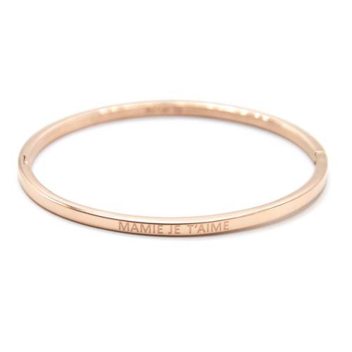 Bracelet-Jonc-Fin-Acier-Or-Rose-avec-Message-Mamie-Je-T-Aime