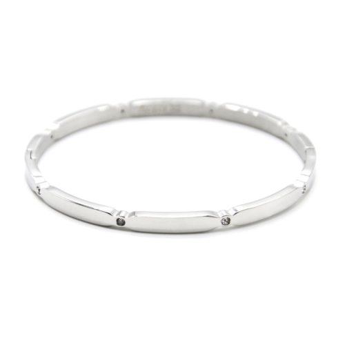 Bracelet-Jonc-Fin-Multi-Ovales-Acier-Argente-Ornes-de-Strass