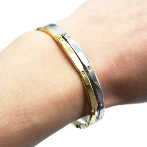 Bracelet-Jonc-Fin-Multi-Ovales-Acier-Ornes-de-Strass
