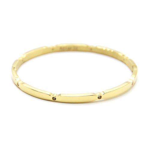 Bracelet-Jonc-Fin-Multi-Ovales-Acier-Dore-Ornes-de-Strass