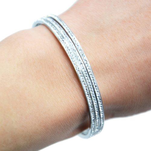 Lot-de-3-Bracelets-Jonc-Fin-Acier-Argente-Orne-de-Strass