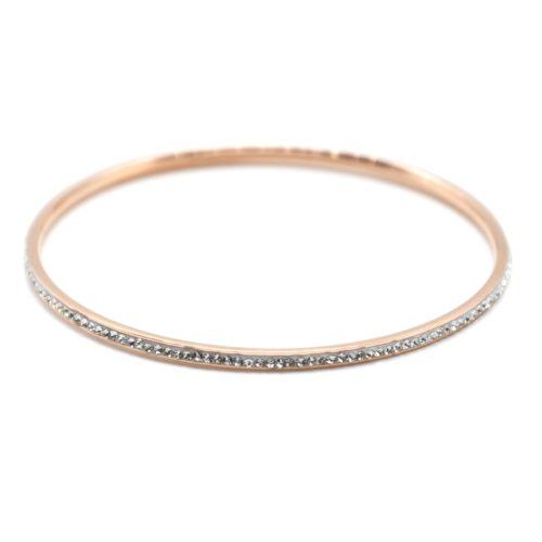 Bracelet-Jonc-Fin-Acier-Or-Rose-Orne-de-Strass
