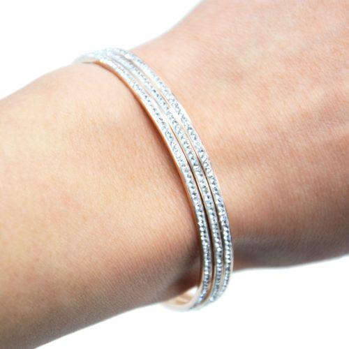 Lot-de-3-Bracelets-Jonc-Fin-Acier-Or-Rose-Orne-de-Strass