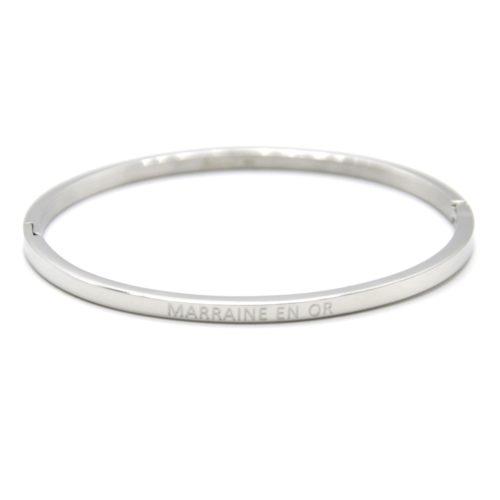 Bracelet-Jonc-Fin-Acier-Argente-avec-Message-Marraine-en-Or