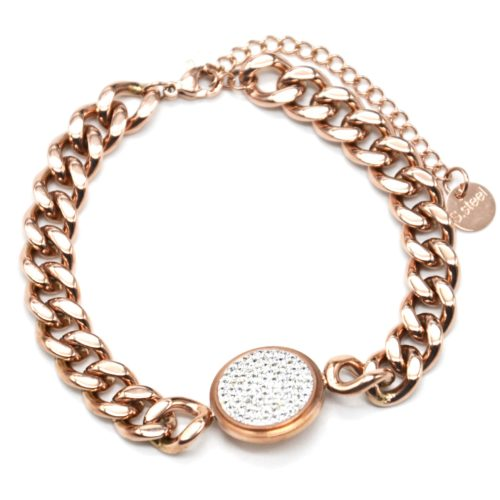 Bracelet-Gourmette-Chaine-Gros-Maillons-Acier-Or-Rose-avec-Charm-Medaille-Strass