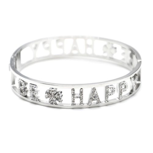 Bracelet-Manchette-Acier-Argente-avec-Message-Ajoure-Be-Happy-Strass