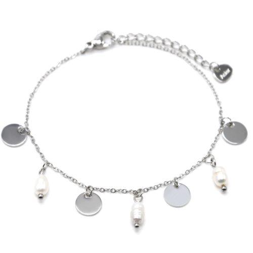 Bracelet-Chaine-avec-Pampilles-Rondes-Acier-Argente-et-Perles-d-Eau-Douce
