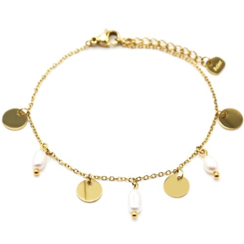 Bracelet-Chaine-avec-Pampilles-Rondes-Acier-Dore-et-Perles-d-Eau-Douce