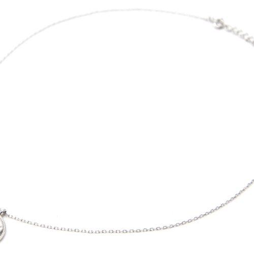 Collier-Fine-Chaine-Argent-925-Pendentif-Medaille-Ajouree-Etoile-Polaire