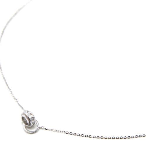 Collier-Fine-Chaine-Argent-925-Pendentif-Anneau-Pierres-Zirconium-et-Cercle