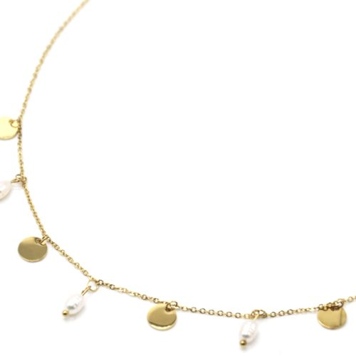 Collier-Chaine-avec-Pampilles-Rondes-Acier-Dore-et-Perles-d-Eau-Douce