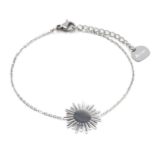 Bracelet-Fine-Chaine-avec-Soleil-Acier-Argente