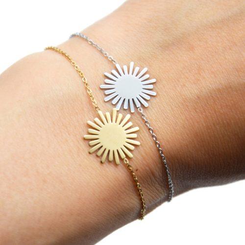 Bracelet-Fine-Chaine-avec-Soleil-Acier