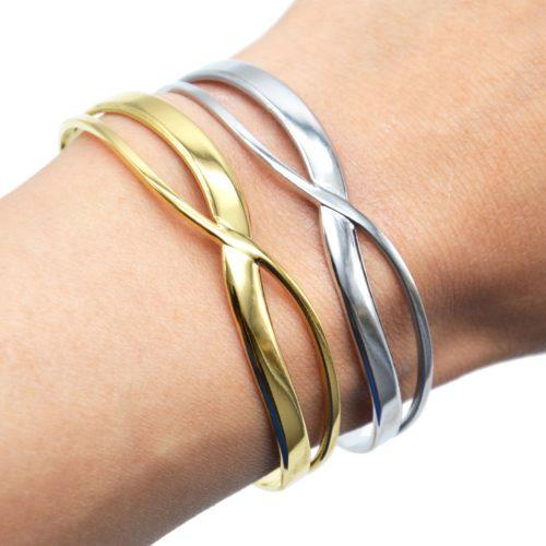 Bracelet-Jonc-Ajoure-avec-Double-Barres-Croisees-Acier
