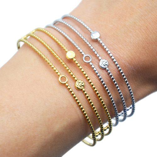 Bracelet-Manchette-Ajouree-avec-Triple-Rangs-et-Cercles-Acier