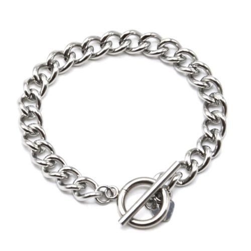 Bracelet-Chaine-Gros-Maillons-avec-Fermoir-T-Acier-Argente
