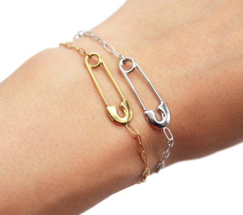 Bracelet-Chaine-Maillons-avec-Epingle-a-Nourrice-Acier