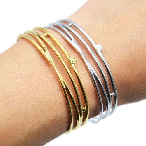 Bracelet-Manchette-4-Rangs-et-Mini-Soleil-Acier