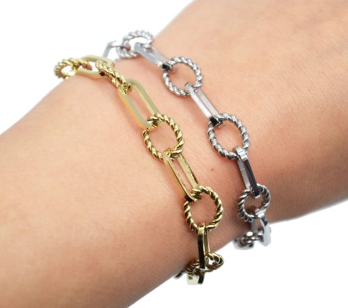Bracelet-Chaine-Gros-Maillons-Ovales-et-Torsades-Acier