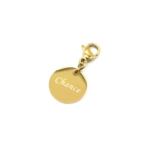 Charm-Medaille-Chance-Acier-Dore