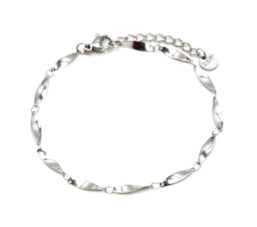 Bracelet-Chaine-Ovales-Effet-Torsade-Acier-Argente