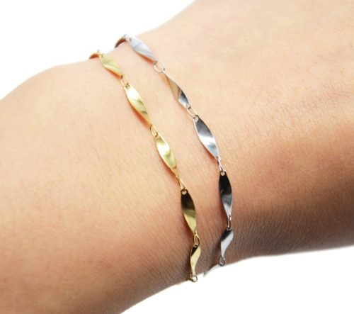 Bracelet-Chaine-Ovales-Effet-Torsade-Acier