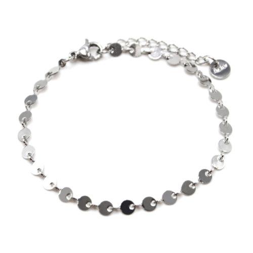 Bracelet-Chaine-Petits-Cercles-Acier-Argente
