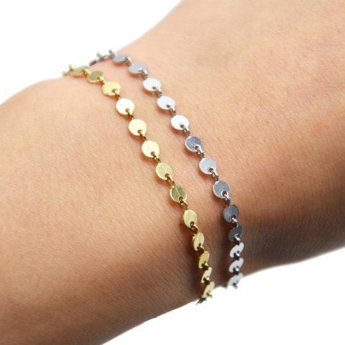 Bracelet-Chaine-Petits-Cercles-Acier