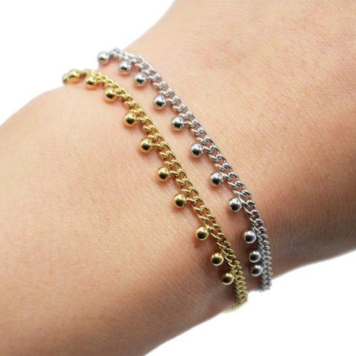 Bracelet-Chaine-Maillons-Fins-avec-Billes-Acier