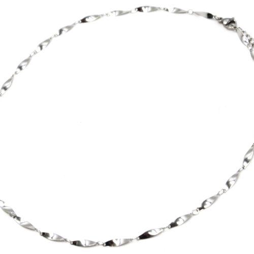 Collier-Chaine-Ovales-Effet-Torsade-Acier-Argente
