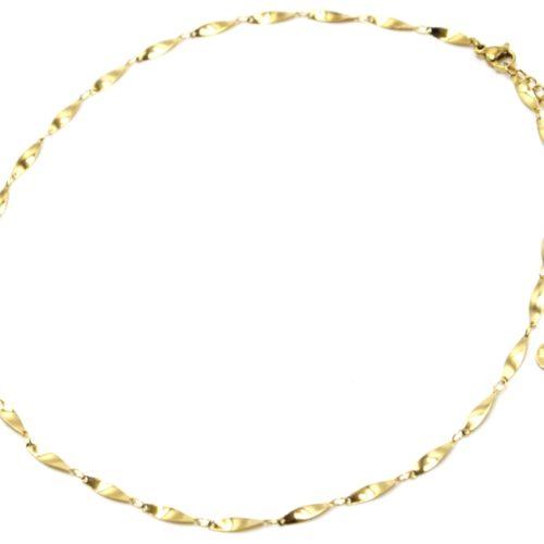 Collier-Chaine-Ovales-Effet-Torsade-Acier-Dore