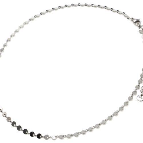 Collier-Chaine-Petits-Cercles-Acier-Argente