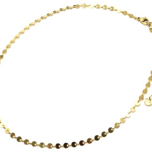 Collier-Chaine-Petits-Cercles-Acier-Dore