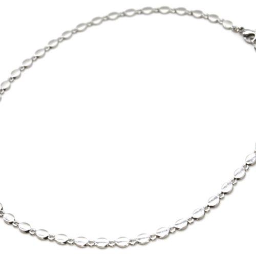 Collier-Chaine-Petits-Ovales-Acier-Argente