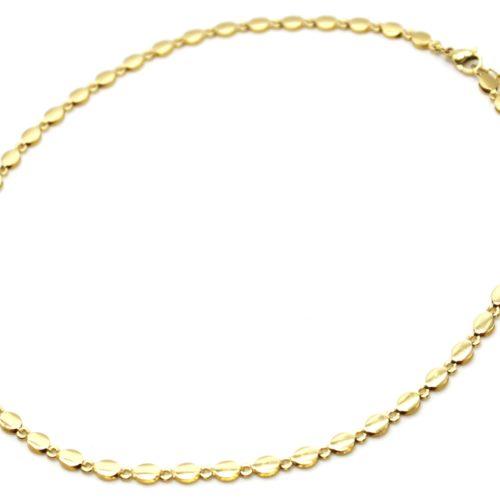 Collier-Chaine-Petits-Ovales-Acier-Dore