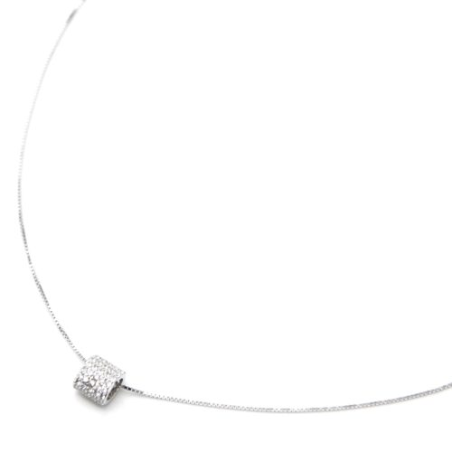 Collier-Fine-Chaine-Argent-925-Pendentif-Tube-Rectangle-Strass-Zirconium